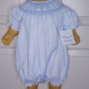 A smocked bubble outfit
